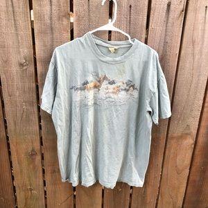 The Mountain Distressed Horses Men's Shirt